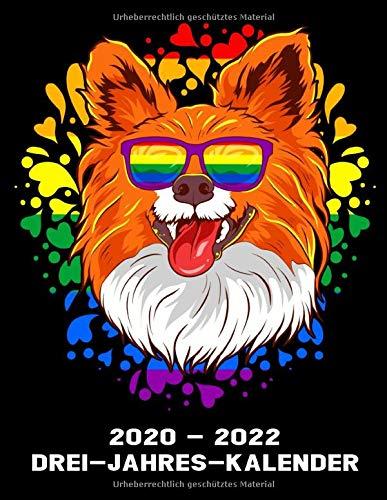 2020 -2022 Drei - Jahres - Kalender: Papillon Hund - Hunde Kalender Terminplaner Buch - Jahreskalender - Wochenkalender - Jahresplaner