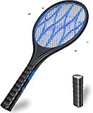 DOUHE Raqueta Matamoscas Electrica Mata Mosquitos Electrico Linterna Extraíble Recargable Iluminación LED 4000 Voltios