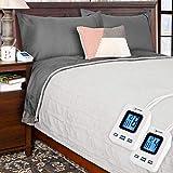 SimplyWarm Electric Heated Polar Fleece Blanket with Sensor-Safe...
