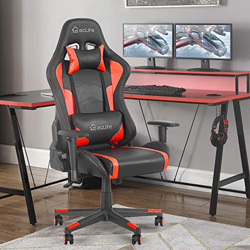 Okeysen Gaming Chair,Ergonomic Recliner High Back Computer Game Chair,Massage Lumbar Support and...