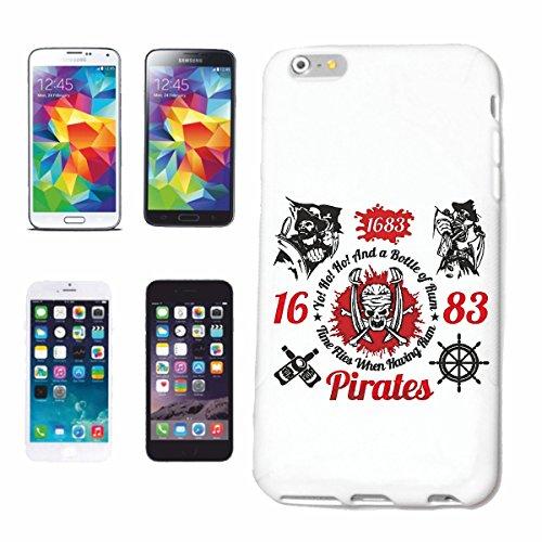 Reifen-Markt Hard Cover - Funda para teléfono móvil Compatible con Apple iPhone 6S Una Botella de Ron CRÁNEO del Pirata CORSARIO CORSARIO del Pirata Cráneo esquelé