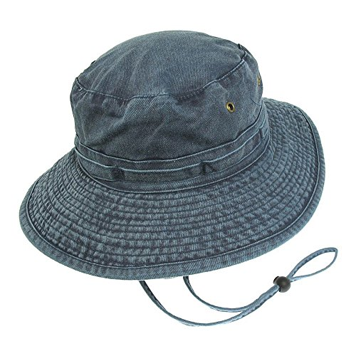 Village Hats Chapeau Bob Boonie Pliable en Coton Bleu Marine - Medium