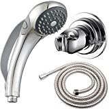 Arthritis or People Disabled in Action-w//Extra-Large Silicone Switching Device-w//Non-Slip Grip Handle-w//Pause Setting-w//Soft Water Chrome YOO.MEE ADA Handheld Shower Head- For Elderly Parkinson