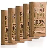 5 X Pack Mezcla orgánica de hierbas a base de hierbas 150g total 100% nicotina y tabaco, rico, aromático, aroma delicado y sabor natural suave sustituto del tabaco Real Leaf