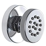 Brass Adjustable Round Massage Spa Body Jet Side Sprayer for Bathroom Shower, Chrome Finish