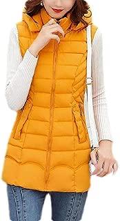 Macondoo Womens Outdoor Puffer Vest Winter Quilted Hooded Down Vest Coat