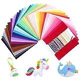 SOLEDI Suave Fieltro Manualidades Tela no Tejido de Lana 41 Colores, Material para Costura y Artesanías de Bricolaje (15*15cm)