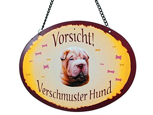 Pfronten Türschild Shar Pei (52), Blechschild, Outdoor, Tierschild wetterfest, Hund