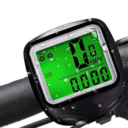 YYDM Ordenador De Bicicleta Impermeable, Odómetro De Bicicleta Ligero, Velocímetro De Bicicleta De Velocidad LCD, Fácil De Instalar Y Arreglar, Adecuado para Todas Las Bicicletas,Wired
