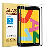 [2 Pack] Screen Protector for iPad 8th 7th Generation 10.2 Inch (iPad 8 7) 2020 2019 Release, apiker Tempered Glass Screen Protector Compatible with Apple Pencil