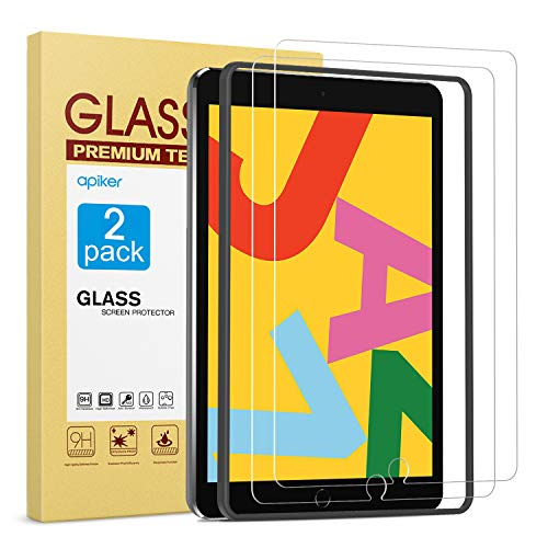[2 Pack] Screen Protector for iPad 8th 7th Generation 10.2 Inch (iPad 8 7) 2020 2019 Release, apiker...