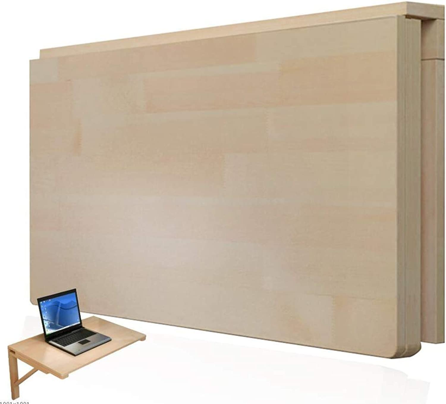 PENGFEI Wall-Mounted Table Laptop Stand Foldable Learning Desk Coffee Table, Small Space, 14 Sizes (color   Wood color, Size   50x30cm)
