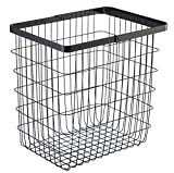 YAMAZAKI home 3163 Laundry Basket Large Storage Hamper, Black