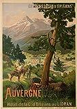 Chemins Eisen Orleans Auvergne Poster Reproduktion –