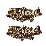 Soporte de caña de pescar de madera, soporte de caña de pescar de madera para lubina grande, regalo amor del pescador, regalo del día del padre (2PCS)