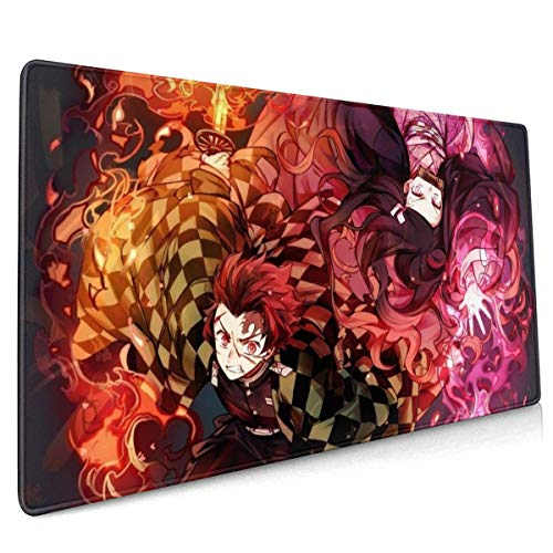 Demon Slayer Mouse Pad 15.75 X35.45 in Japan Anime Mouse Mat Gaming Mouse Pad (40x90cm)