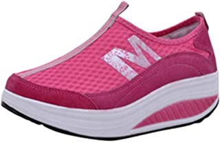 VonVonCo Shoes Elastic Durable Yoga Surf Sports Brogues Women's Fashion Casual Mesh Breathable Wedges Sport Running Sneakers Shake