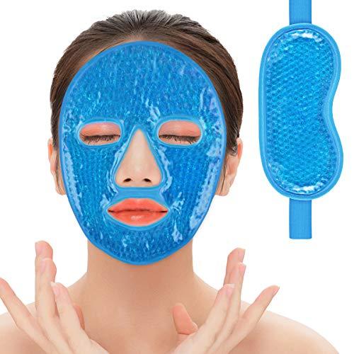 2 Pack Gel Ice Pack for Shin Splints Pain Relief & Ice Gel Eye Masks Kit