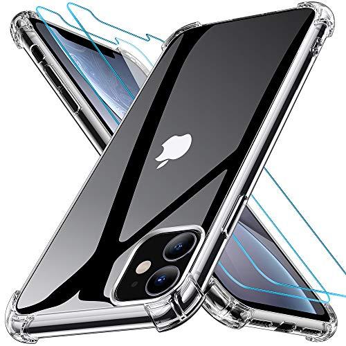 Joyguard Design für iPhone 11 Hülle mit 2 Stück Panzerglas Schutzfolie, Schock-Absorption Kompletter Schutz Kompatibel mit Handyhülle iPhone 11- 6.1 Zoll Klar