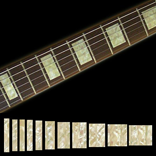 Inlaystickers Inlay Sticker Griffbrett Position Marker für Gitarren & Bass -LP SG Blocks - Alt Weiß Perle, F-005BL-AW