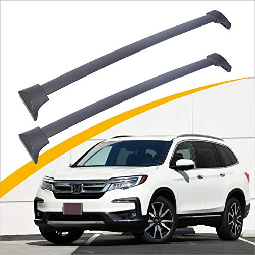 Rycom Roof Rack Cross Bar Rail Black Compatible with Special for Honda Pilot 2016 2017 2018 2019 2020 2021, Factory Style Black Cross Bar Bars Luggage Carrier