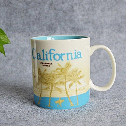 Starbucks California Collector City Mug,Light Blue and White