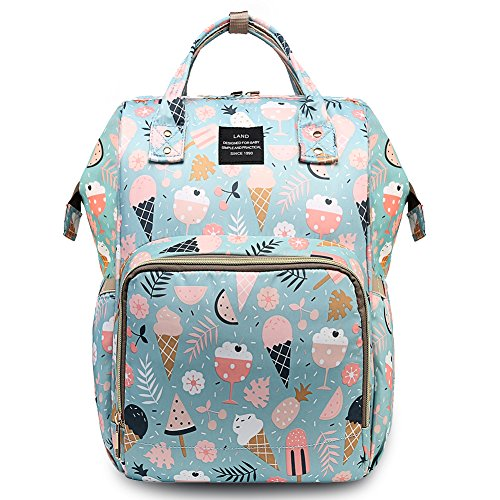 HaloVa Diaper Bag, Large Capacity Mommy Daddy Baby Travel Backpack