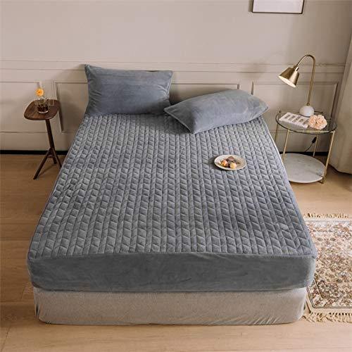 haiba Cama individual de algodón con bolsillo profundo 180 x 200 + 2 fundas de almohada.
