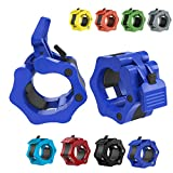 HAHASOLE Barbell Clamps 2 inch, Olympic Bar Clips, Quick Release Pair of Locking 2 inch Barbell Collars for Workout Weight Lifting Fitness Training (One Pair)