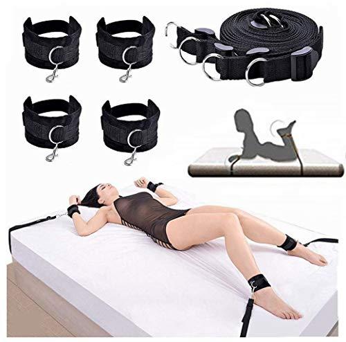Erlove Kit Cinturino Yoga Regolabile in Nylon con cavigliera B`D`S`M