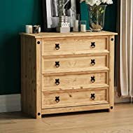 Product Colour: Pine Product Size: H 73 x W 80 x D 41 cm Approx. Product Material: Distressed Waxed Pine Product Brand: Vida Designs Product Cleaning Instructions: Wipe With A Dry Cloth