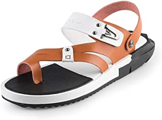Xujw-shoes, Mens Outdoor Sandals Summer Water Beach Slipper Shoes for Men Antislip Hook&Loop Strap Stitching Waterproof Stitched Ring Toe Lightweight Breathable