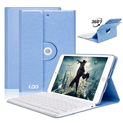 iPad Mini Keyboard Case for Apple iPad Mini 3/2/1, COO Wireless Detachable Bluetooth Keyboard Magnetic Cover with Apple Sleep/Wake, Built-in Non-Slip Case - Adjustable Angle