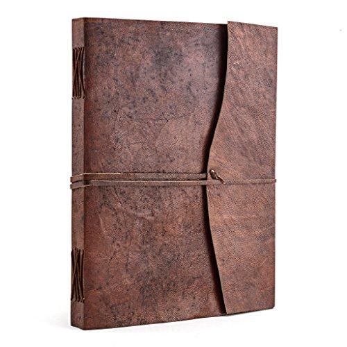 A.P. Donovan - Tagebuch Leder | Notizbuch | leer zum Reinschreiben | Rezeptbuch | Kochbuch | Reisetagebuch | Diary (DIN A4)