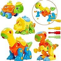 ツールネジ教育プレイセットギフト用キッズボーイズ女の子と子供の恐竜組み立ておもちゃ,イエロー