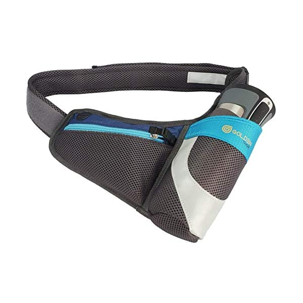 Hydration Belt Women for Runners with Bottle Holder Pocket for Keys, Cards and Most Smartphones (Tight) for Running – Reflective on Both Sides – Sports Waist Pack for Cycling Walking Hiking Camping
