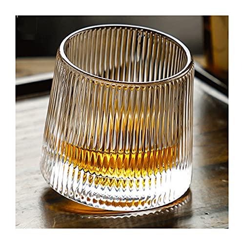 Juego de Vasos de Whisky para Trabajo Pesado Whisky Escocés Vintage,Gafas de Fondo Grueso de Cristal Transparente,para Cócteles, Whisky Bourbon,C