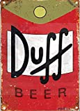 Eletina twinkle Aluminum Vintage Sign Duff Beer Exterior Home bar Decoration Vintage Metal tin Sign 8 x 12 inches