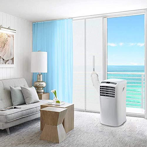 HOMTOL Sello de puerta para aire acondicionado portátil y secadora para unidad de aire acondicionado móvil con doble cierre adhesivo fácil de instalar (90 x 210 cm)