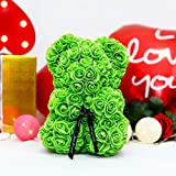 Best Gift for Mom, Rose Bear Teddy Bear Artificial Flower Bear - Christmas, Valentine's Day, Anniversary, Birthday, Wedding and Valentine's Day Gifts