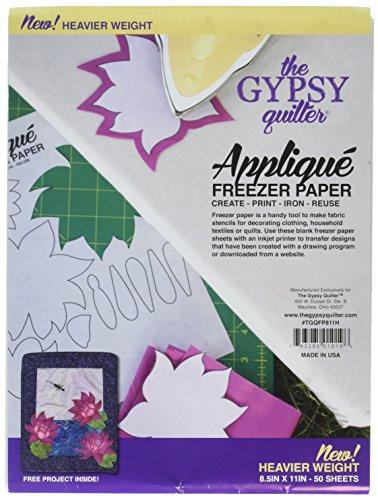 Gypsy Quilter Gefrierpapier, 20,3 x 27,9 cm