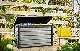 Aufbewahrungsbox Maxi, 757 Liter - hochwertige Gartenbox mit Gasdruckfedern - viel trockener Stauraum für Sitzauflagen oder Gartengeräte - 100% wasserdicht - durch Belüftung Keine Schimmelbildung