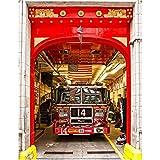 lili-nice Autocollant De Porte De Camion De Pompiers pour l'art De La Chambre À Coucher Art PVC PVC Imperméable 3D Decal par Wrap 77 * 200Cm