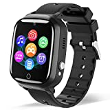 Smart Watch for Kids - Children Smartwatch Boys Girls with 7 Intelligent Games Music MP3 Player HD Selfie Camera Calculator Alarms Timer 12/24 Hours for 4-12 Years Old Students (Black)