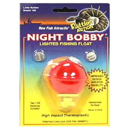 Night Bobby 158-R Lighted Fishing Float (Red, 1-3 4 Inch)