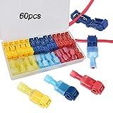 FULARR 60Pcs (30 Pairs) Premium T-Tap Cable Conectores...