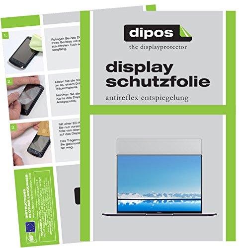 dipos I 2X Schutzfolie matt kompatibel mit Huawei MateBook X Pro Folie Bildschirmschutzfolie