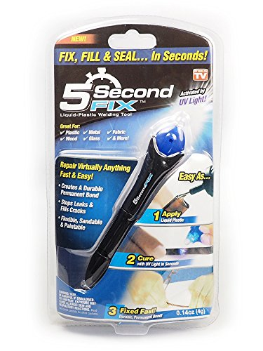 5 Second Fix 紫外線を当てると5秒で固まる 液体プラスチック 溶接剤