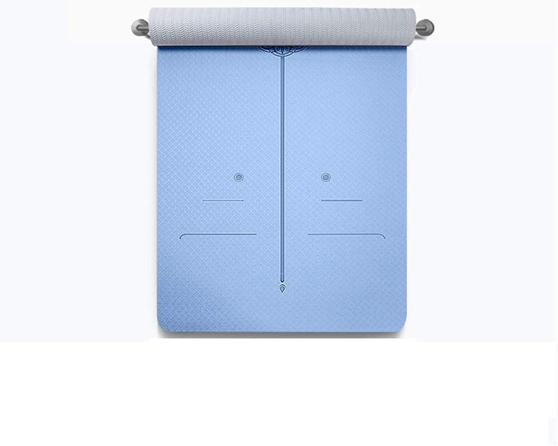 IUYWL TPE rutschfeste Verdickung verbreitert Yogamatte Fitnessmatte doppelte Krperlinie Bodenmatte 183cm × 80cm Yoga Matte (Farbe   C)