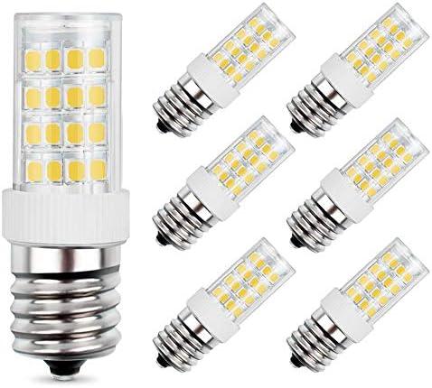 E17 LED Bulb 5W Equivalent to 40W Halogen Bulb AC 110V 120V Daylight White 6000K for Microwave product image